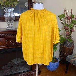 Universal Thread Yellow Prairie 3/4 Sleeve Blouse